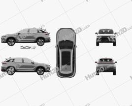 Beijing X7 2020 car clipart