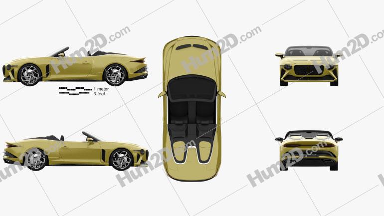 Bentley Mulliner Bacalar 2021 Clipart Image