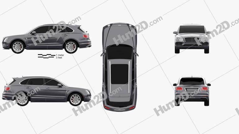 Bentley Bentayga Speed US-spec 2020 car clipart