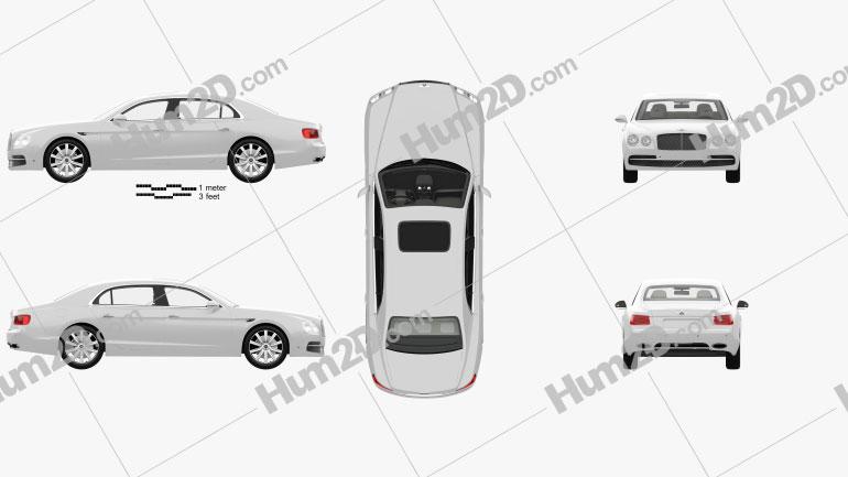 Bentley Flying Spur com interior HQ 2014 car clipart