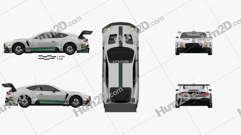 Bentley Continental GT3 2020 car clipart