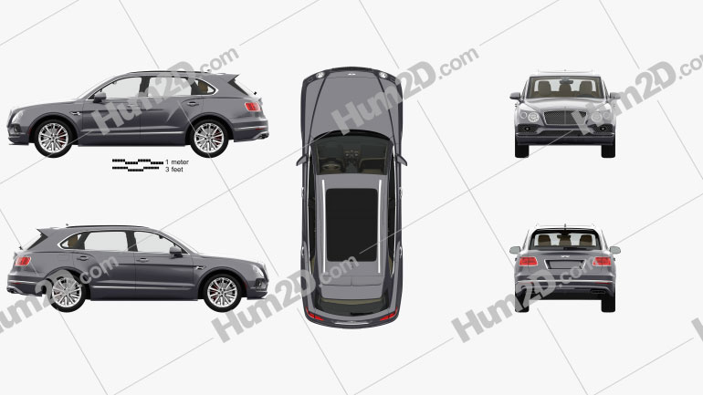 Bentley Bentayga Speed US-spec with HQ interior 2020 car clipart