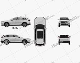 Bestune T99 2019 car clipart