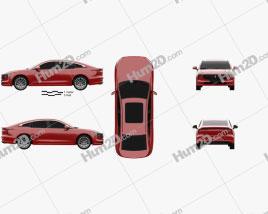 Bestune B70 2020 car clipart