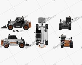 Bobcat Versahandler V417 Telehandler 2014 Tractor clipart