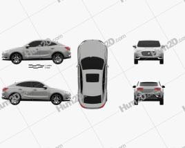 Borgward BX6 TS 2016 car clipart