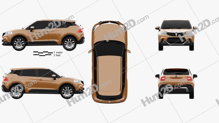 Brilliance V3 2015 car clipart