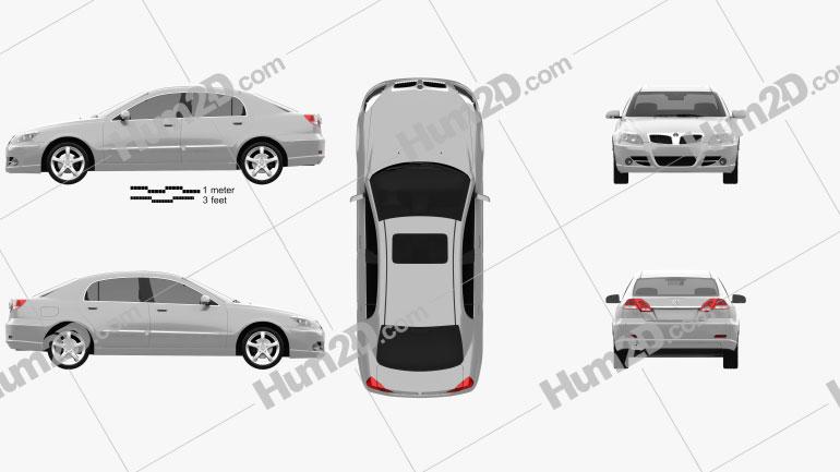 Brilliance BS4 2007 car clipart