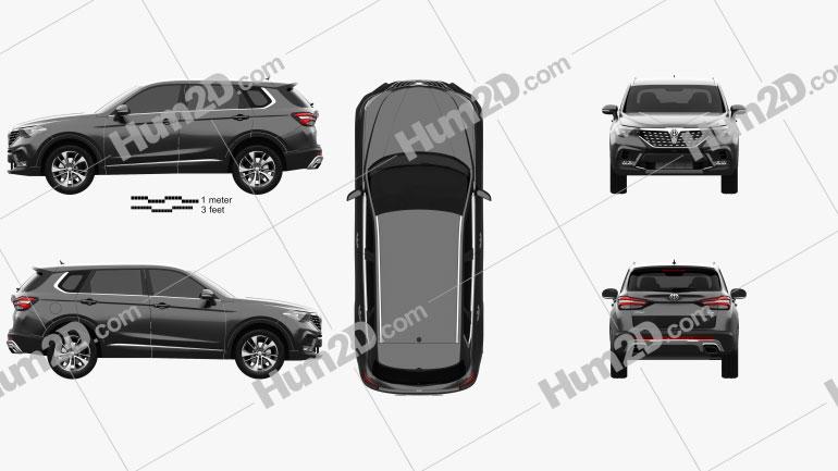 Brilliance V7 2019 car clipart