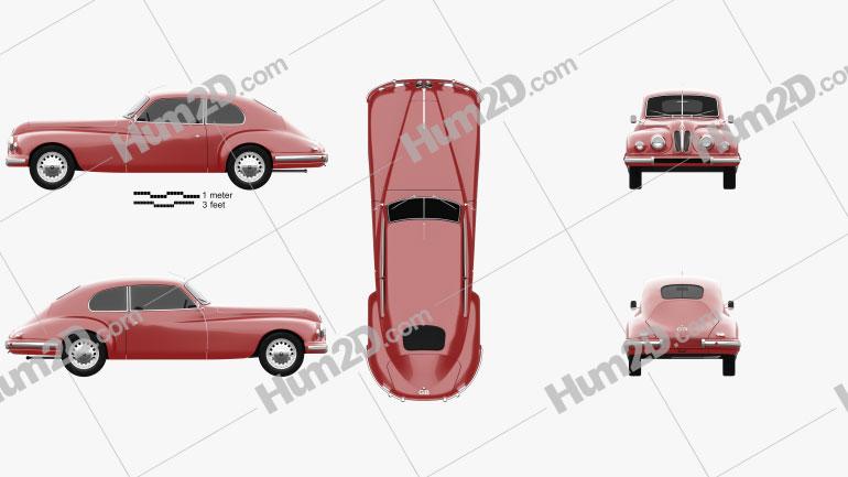 Bristol 401 1949 car clipart