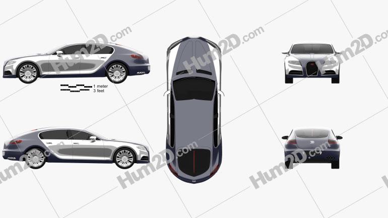 Bugatti Galibier 2009 car clipart