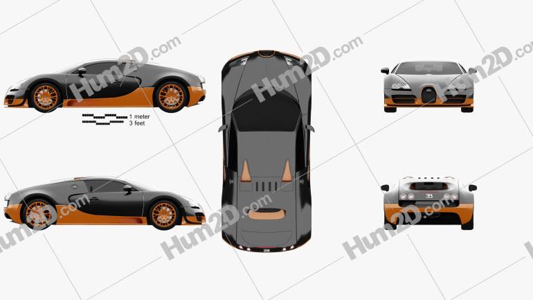 Bugatti Veyron Grand-Sport World-Record-Edition 2011 car clipart