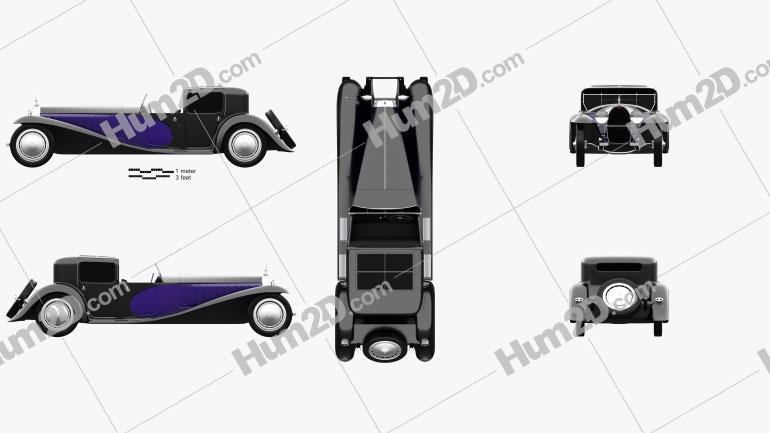 Bugatti Royale (Type 41) 1927 Clipart Image
