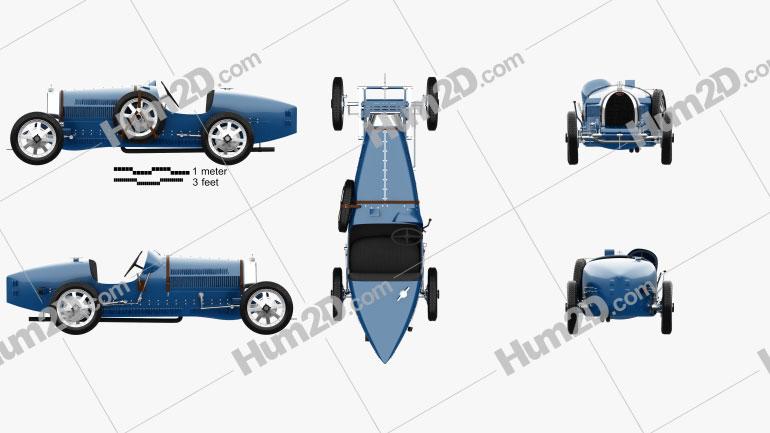 Bugatti Type 35 1924 Clipart Image