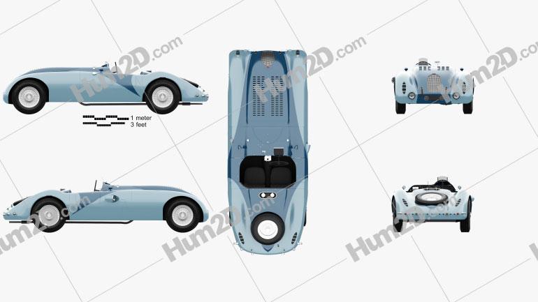 Bugatti Type 57G Tank 1936 car clipart
