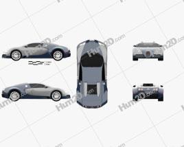 Bugatti Veyron 2005 Clipart