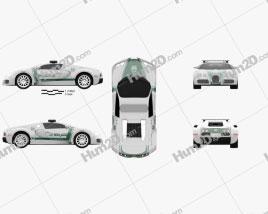 Bugatti Veyron Police Dubai 2014 car clipart