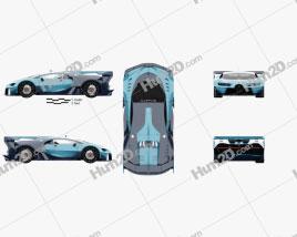 Bugatti Vision Gran Turismo 2015 car clipart