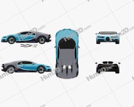 Bugatti Chiron 2017 Clipart
