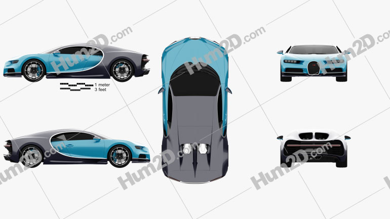 Bugatti Chiron 2017 car clipart