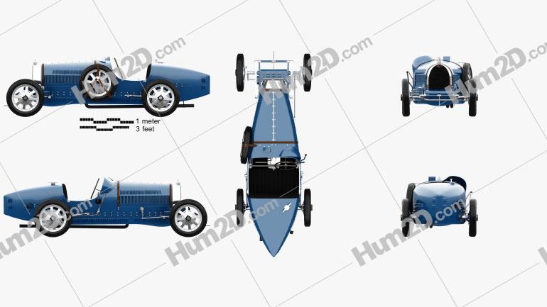 Bugatti Type 35 with HQ interior 1924 car clipart
