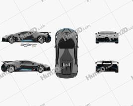Bugatti Divo 2019 Clipart
