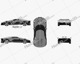 Bugatti La Voiture Noire 2019 car clipart