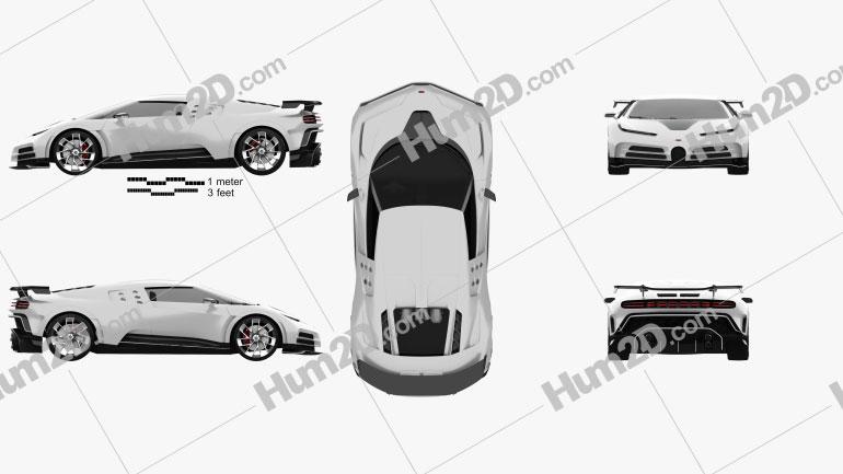Bugatti Centodieci 2020 car clipart