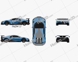 Bugatti Chiron Pur Sport 2021 car clipart