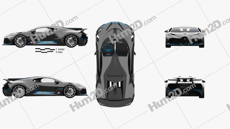 Bugatti Divo with HQ interior 2019 car clipart