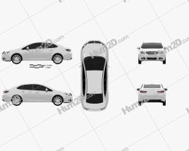 Buick Verano 2012 car clipart