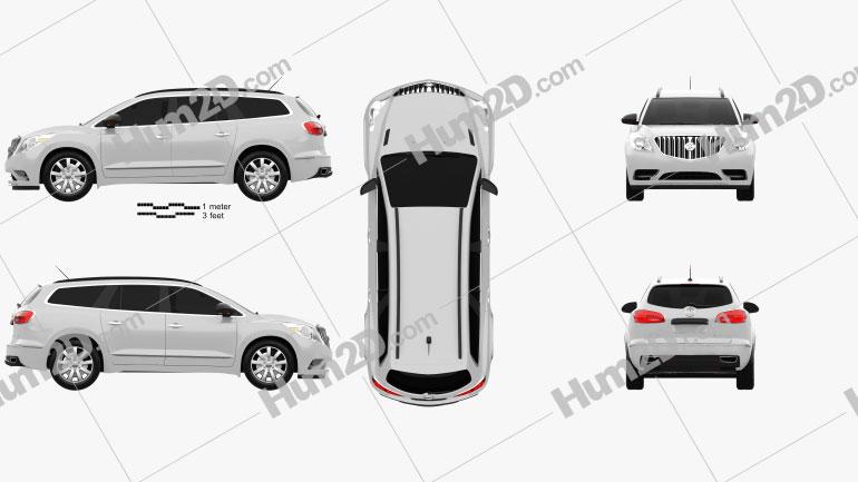 Buick Enclave 2013 Clipart Image