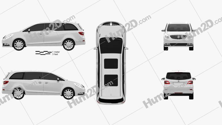 Buick GL8 2011 car clipart