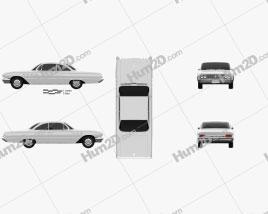 Buick LeSabre 2-door hardtop 1961 car clipart