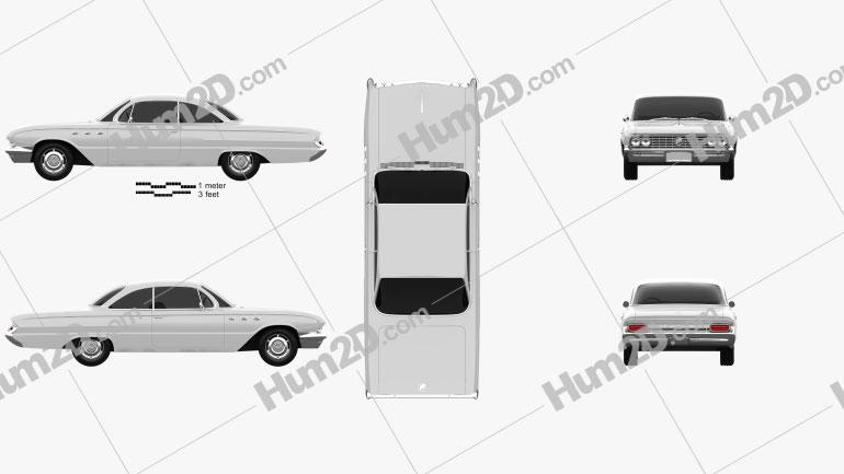 Buick LeSabre 2-door hardtop 1961 Clipart Image