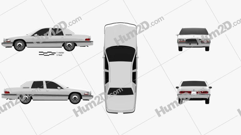 Buick Roadmaster sedan 1991 car clipart