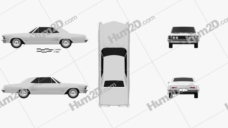 Buick Riviera 1963 car clipart