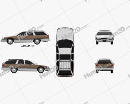 Buick Roadmaster wagon 1991 car clipart