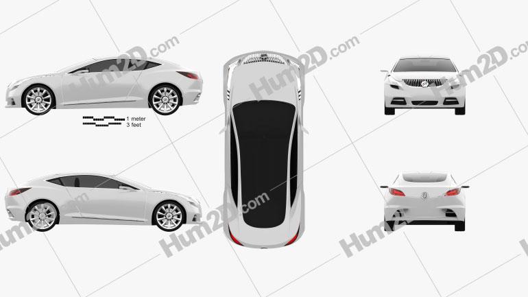 Buick Riviera 2007 car clipart