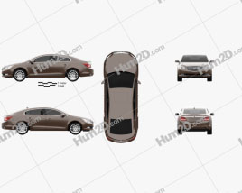 Buick LaCrosse (Allure) 2014 car clipart
