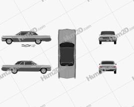 Buick Wildcat convertible 1963 car clipart