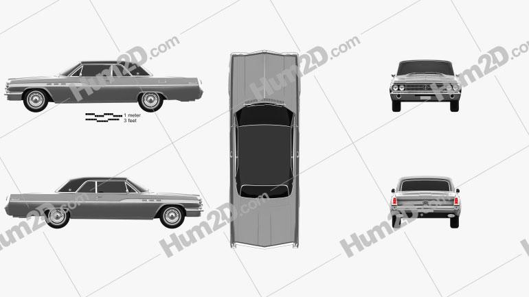 Buick Wildcat Convertible 1963 Clipart Image