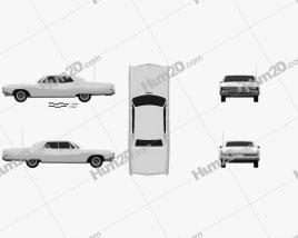 Buick Electra 225 4-door hardtop 1968 car clipart