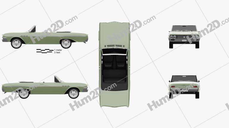 Buick Skylark Convertible 1964 car clipart