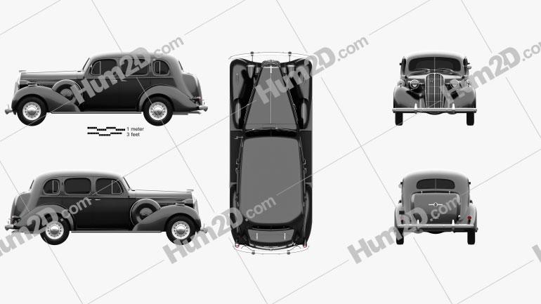Buick Roadmaster 1936 car clipart