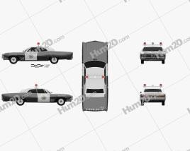 Buick Wildcat Police 1968 car clipart