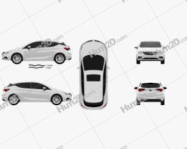 Buick Verano (CN) hatchback 2015 Clipart