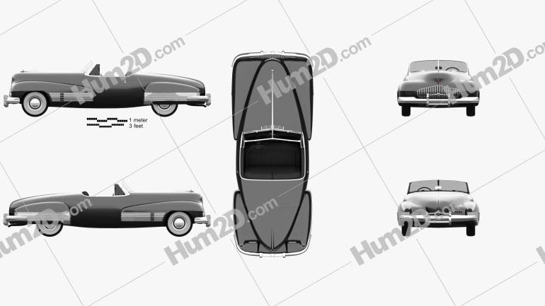 Buick Y-Job 1938 car clipart