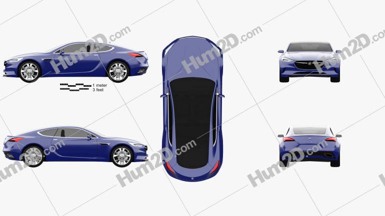 Buick Avista 2016 car clipart
