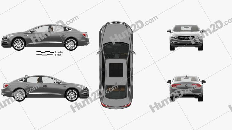 Buick LaCrosse (Allure) with HQ interior 2017 car clipart